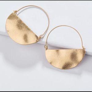 Anthropologie Rylan Crescent hoop earrings